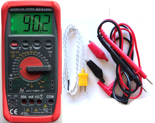 how to use a multimeter as a tachometer