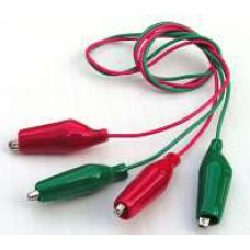 【Tool-019】 Two Alligator Test clips with wires set