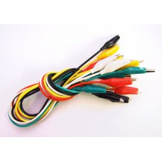 【Tool-018】 Ten Alligator Test clips with wires set